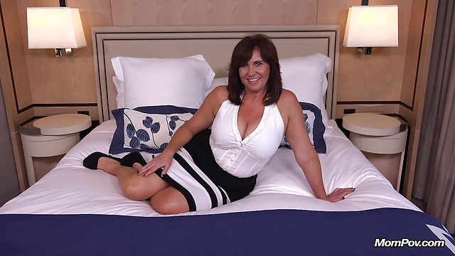 Thick busty Cougar MILF loves young cock
