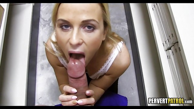 Euro Blonde in the Backroom
