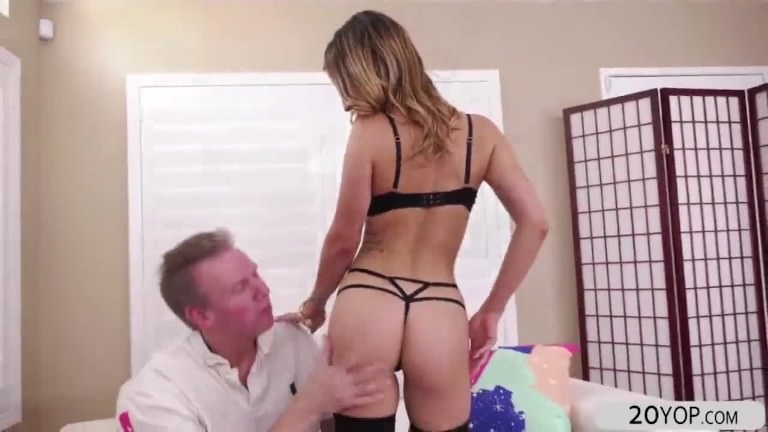 Kristen scott bent over