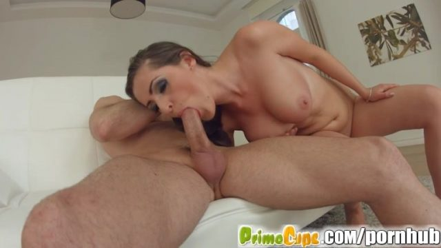 Prime Cups brunette with big boobs loves filming porno