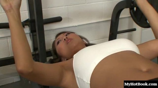 Sexy brunette Asian with big boobs, Beti Hana, gets it on with a
