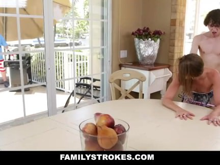 Young Step-Siblings Fuck During Family BBQ