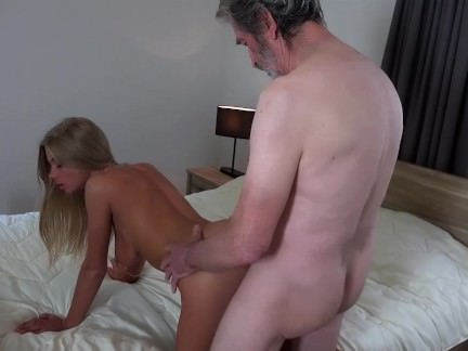 Horny young lips wrapped on old cock sucking